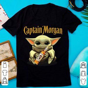 Original Star Wars Baby Yoda Hug Captain Morgan shirt