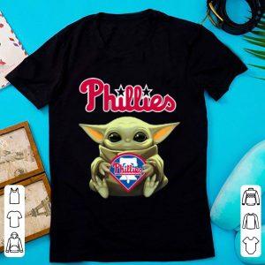 Original Star Wars Softball Baby Yoda Hug Philadelphia Phillies shirt