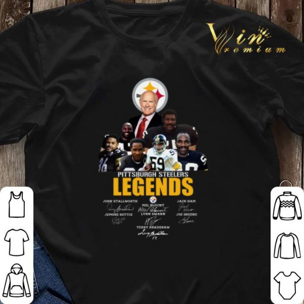 Pittsburgh Steelers Legends player all signature autographed shirt sweater