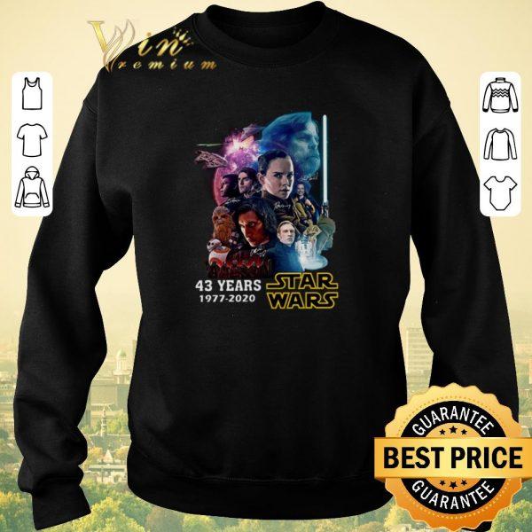 Premium 43 years Star Wars 1977 2020 all signature full characters shirt sweater