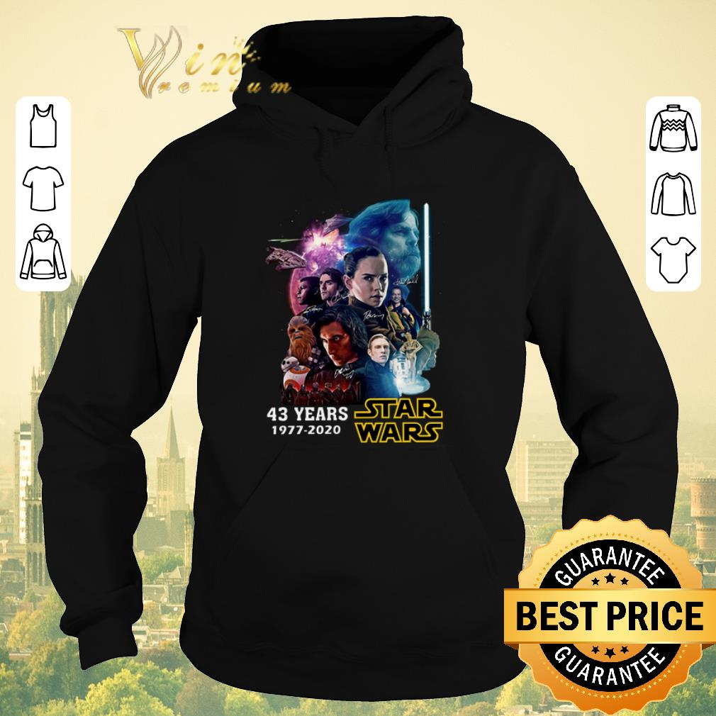 Premium 43 years Star Wars 1977 2020 all signature full characters shirt sweater 4 - Premium 43 years Star Wars 1977 2020 all signature full characters shirt sweater