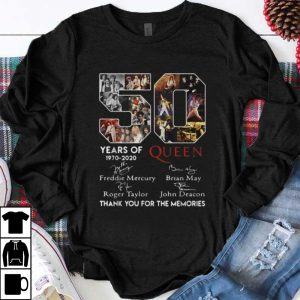 Premium 50 Years Of Queen Thank You For The Memories Signatures shirt