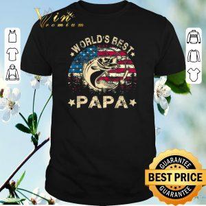 Premium American Flag World's Best Fishing Papa shirt