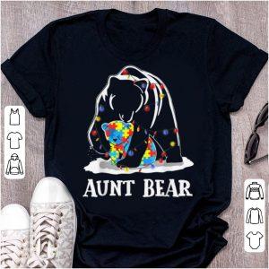 Premium Aunt Bear Autism Awareness shirt