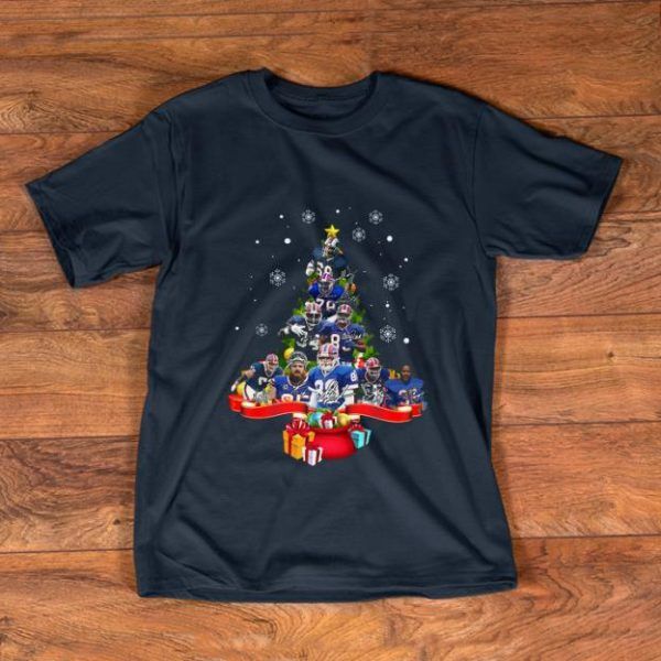 Premium Buffalo Bills Players Christmas Tree signatures shirt