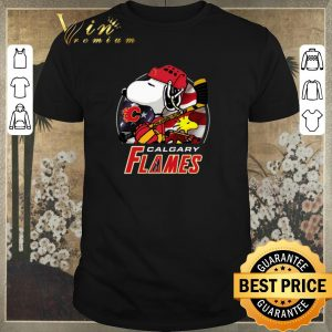 Premium Calgary Flames Ice Hockey Snoopy and Woodstock shirt sweater