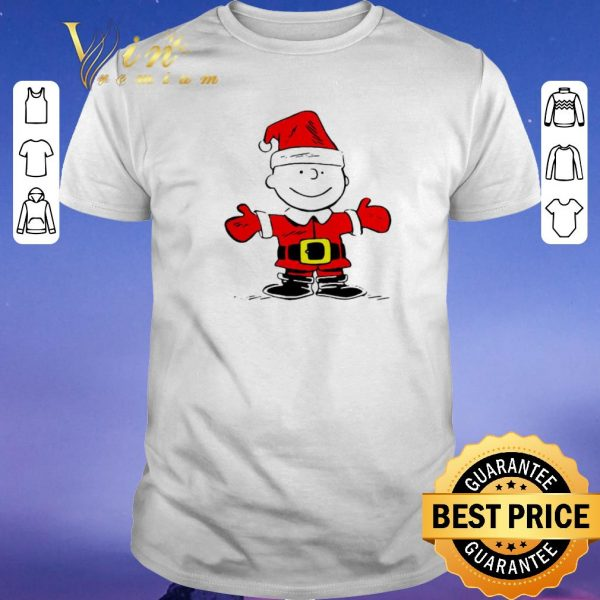 Premium Merry Christmas Santa Charlie Brown shirt