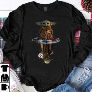 Premium Pittsburgh Steelers Baby Yoda And Master Yoda Water Reflection shirt