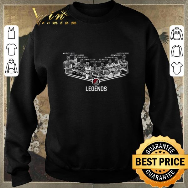 Premium Portland Trail Blazers Legends player all signature shirt sweater