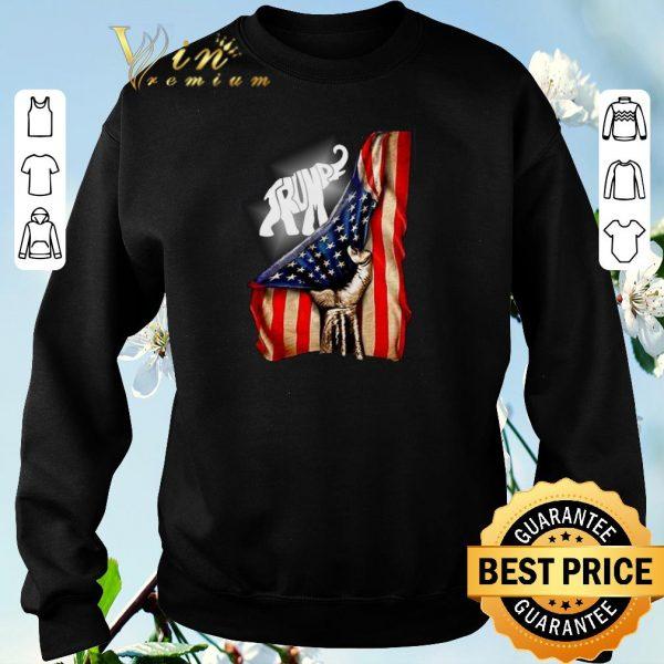 Pretty American flag Elephant Trump shirt