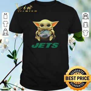 Pretty Baby Yoda hug New York Jets Star Wars Mandalorian shirt sweater