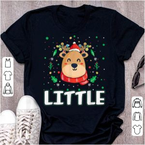 Pretty Cute Little Reindeer Santa Ugly Christmas Family Matching sweater