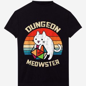 Pretty Dungeon Meowster Cat Lover D20 Rpg Vintage shirt