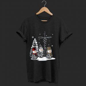 Pretty Faith Hope Love Snowman Christmas Jesus shirt