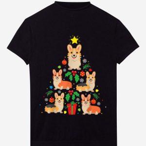 Pretty Funny Corgi Christmas Tree Ornament Decor Gift Tee sweater