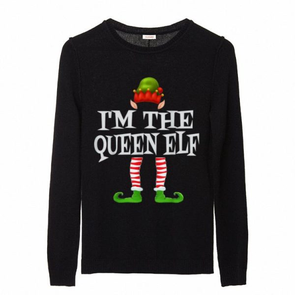 Pretty I Am The Queen Elf Gift Family Matching Christmas Ugly sweater