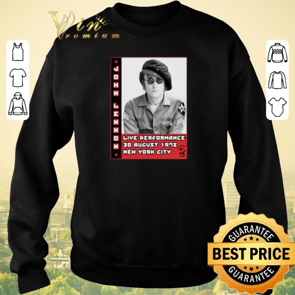 Pretty John Lennon live performance 30 august 1972 New York City shirt sweater