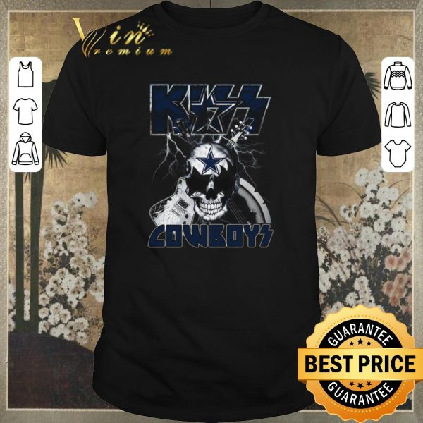 Pretty Kiss Cowboys Dallas Cowboys Guitar Skull shirt sweater