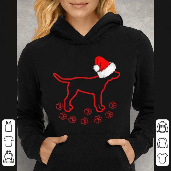 Pretty Lab Dog Footprint Labrador Christmas Santa Claus Hat sweater