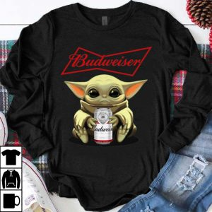 Pretty Star Wars Baby Yoda Hug Budweiser shirt
