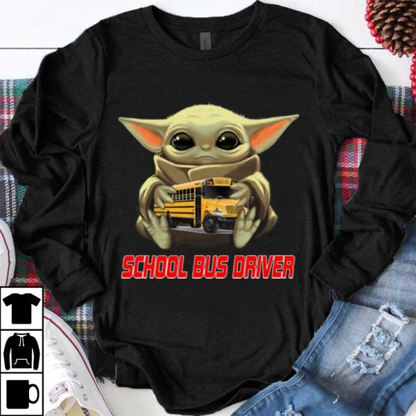 Pretty Star Wars Baby Yoda Hug School Bus Driver shirt