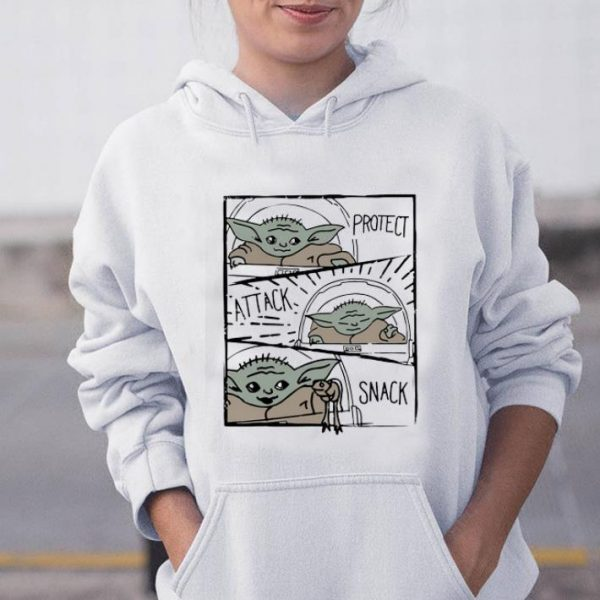 Pretty Star Wars Mandalorian Baby Yoda The Child Protect Attack Snack shirt