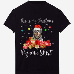 Pretty This is My Christmas Pajama Santa Rottweiler Dog sweater