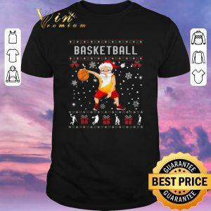 Pretty Ugly Christmas Basketball Santa sweater