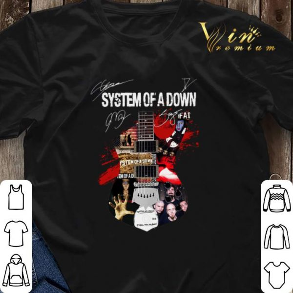 Signature System of a down all guitar shirt