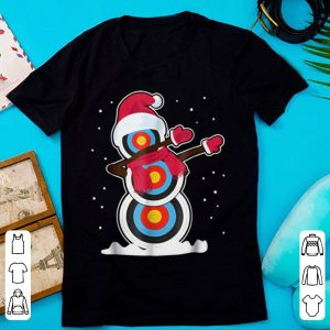 Snowman Archery Dabbing With Santa Hat Christmas sweater