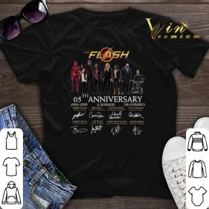 The Flash 05th anniversary 2014 2019 all signature autographed shirt sweater