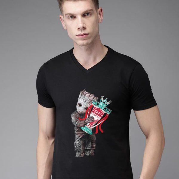 Top Baby Groot hug Liverpool shirt
