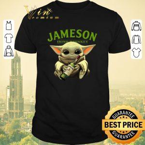 Top Baby Yoda hug Jameson Irish Whiskey shirt sweater