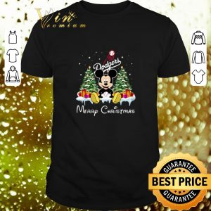 Top Mickey Los Angeles Dodgers Merry Christmas shirt