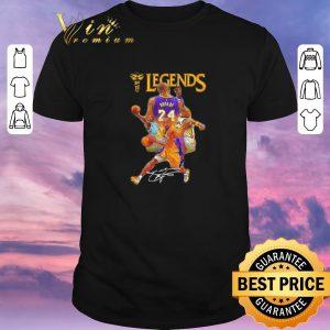 Top Signature Kobe Bryant 24 Los Angeles Lakers Legends shirt