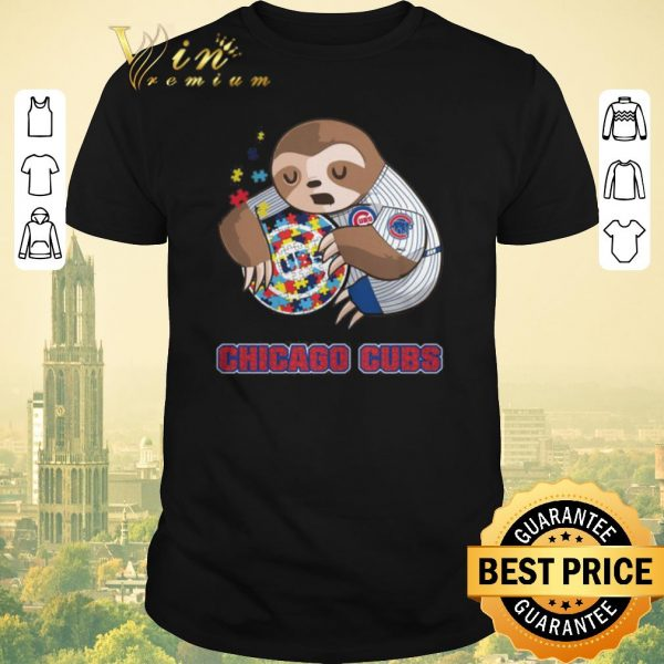 Top Sloth hug Autism Chicago Cubs shirt sweater