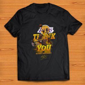Top Thank you Kobe Bryant Los Angeles Lakers signature shirt