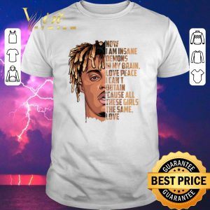 Top rip juice wrld now i am insane demons in my brain love peace shirt sweater