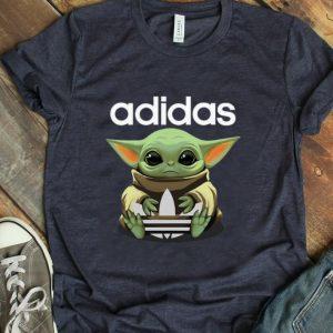 Awesome Baby Yoda Hug Adidas shirt
