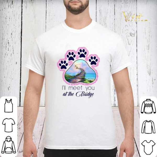 Dog paw i'll meet you at the bridge glitter shirt sweater