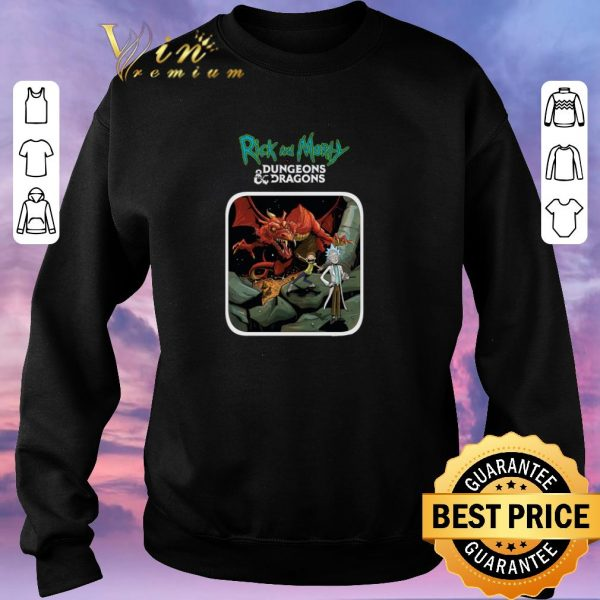 Funny Rick and Morty Mashup Dungeons And Dragons shirt sweater