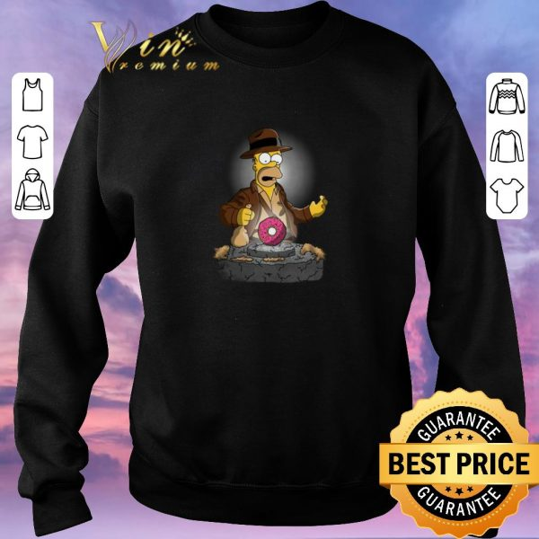 Funny The Simpsons Adventures of Indiana Homer shirt sweater
