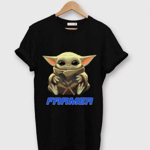 Hot Star Wars Baby Yoda Hug Farmer shirt