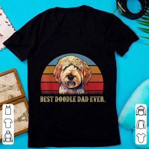 Hot Vintage Best Doodle Dad Ever Dog Lovers shirt
