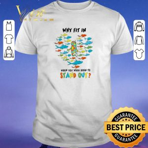 Nice Autism fish Why fit in when you were born to stand out shirt sweater