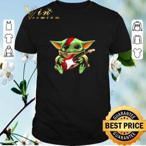 Nice Baby Yoda hug Electric guitar Star Wars shirt sweater