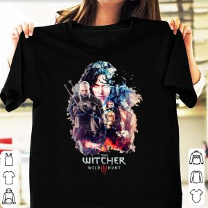 Nice The Witcher Wild Hunt characters poster shirt