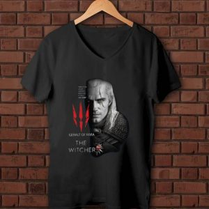 Official Geralt Of Rivia The Witcher Evil Is Evil Lesser Greater Middling It's All The Same shirt