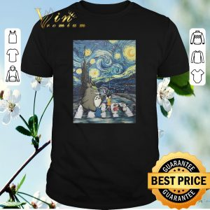 Official Studio Ghibli Friends And Starry Night Abbey Road Van Gogh shirt sweater