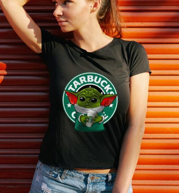 Original Star Wars Baby Yoda Hug Starbuck Coffee shirt